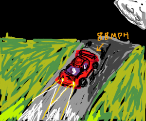 red ferarri has to get to 88 mph