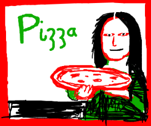 Mona Lisa Lovesa Pizza