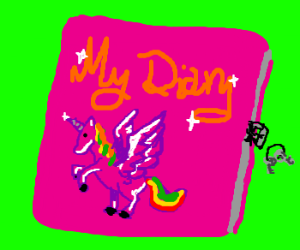 Typical little girl diary