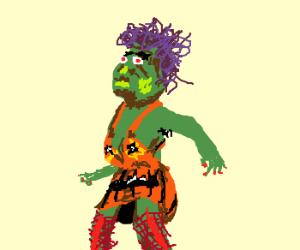 "Ugly girl dressed as ""slutty"" pumpkin"