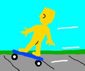 Apologise, but, Bart simpson skateboarding naked sorry