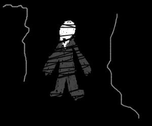Slenderman hiding in the dark