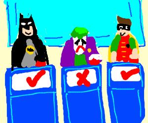 Joker gets a gameshow question wrong