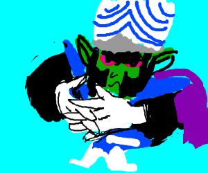 Mojo Jojo twiddling fingers.