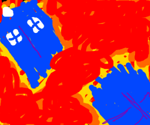 Van Gogh's - 'Exploding Tardis'