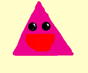 A triangle that is happy