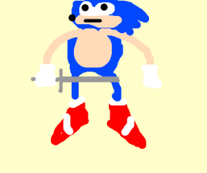 sonic may be cripple... but he fights on