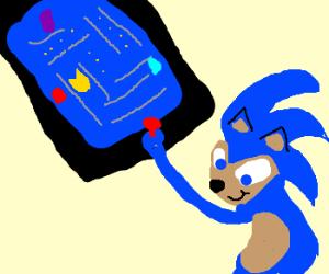Sonic the Hedgehog plays Pac Man
