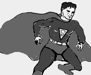 black and white superman