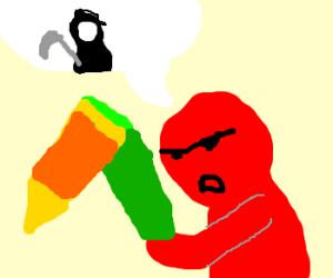 Elmo tells of the grim reaper