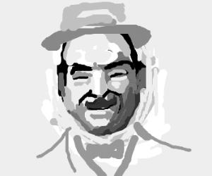 M. Poirot, avec sa grande moustache