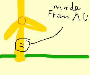gold windturbine
