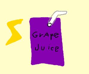 Harry Potter has grape juice in goblet