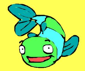 happy multicolored fish