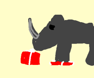 rhino destroys christmas present