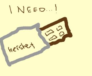 I need chocolate. stat.