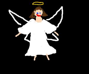 Angel on a black background