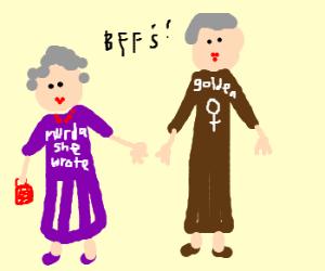 Hipster Angela Lansbury w BFF BeaArthur