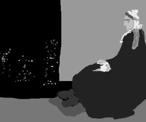 Whistler's monochromatic mother