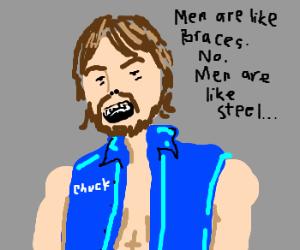 Chuck Norris gets braces.