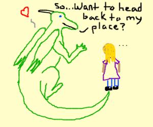 Flirting dragon.