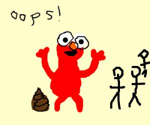 Elmo Has An Accident Drawception