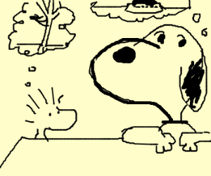 Snoopy And Woodstock Drawception