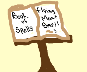 Flying meat spell