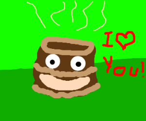 Warm chocolate cake loves you.