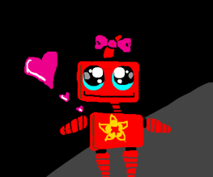 adorable red robot