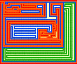 Post modern art maze.