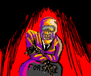 Purple skeleton rapper with skimask