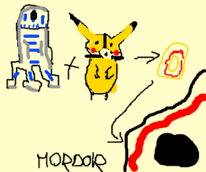R2D2 and Pika-Bane take ring to Mordor
