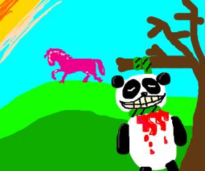 bleeding dead panda excited horse pink