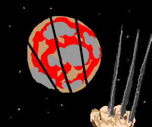 Wolverine is slicing planets with claws.