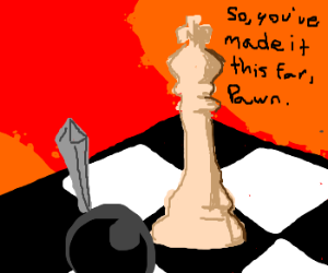 Black Pawn vs White King