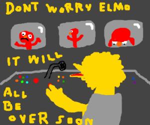 Big Brother Big Bird consoles Emo Elmo.