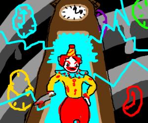 Psychotic clown travels through time