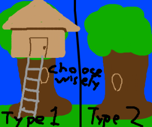 Two types of tree houses