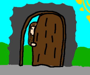 Jesus opening door