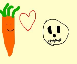 carrot loves skull