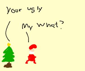 Christmas trees fail at grammar