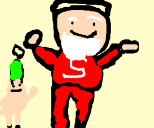 Santa starts elf orgy