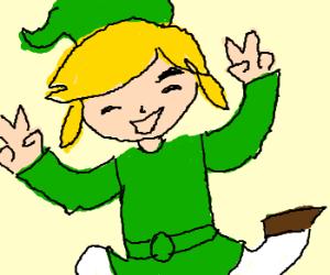 Link is happy