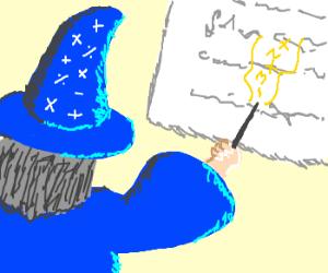 Math whiz shows his work.