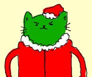 santacat is green with envy