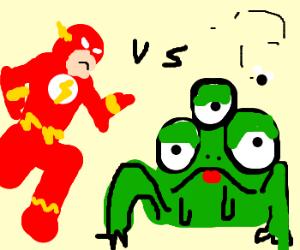 "The Flash vs ""Alien"" Frog"