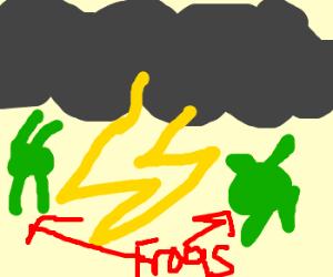 its raining frogs, halelujah!