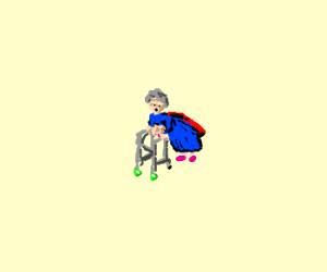 super-granny's costume malfunction