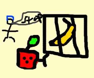 Apple breaks banana out of jail